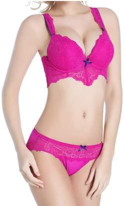 b5ff12fd036 Meiruian Sexy Women Lace Underwear Push Up Bra Sets   Panty Thin Underwire  Bra