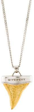 Givenchy Shark Tooth Layered Pendant Necklace