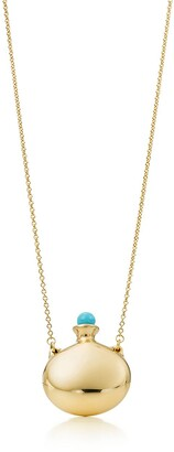 Tiffany & Co. Elsa Peretti Bottle round bottle pendant in 18k gold with a turquoise stopper