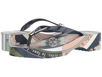 f070753ea Tory Burch Wedge Flip Flops - ShopStyle