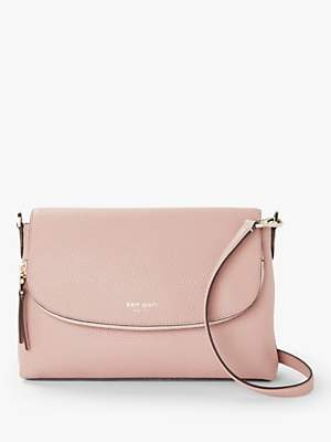 8bc89dfa9fd1 at John Lewis and Partners · Kate Spade Polly Leather Large Flap Over Cross  Body Bag