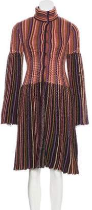 Missoni Wool Cable Knit Coat