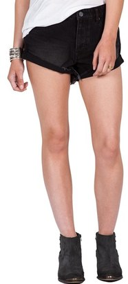 Volcom Cuffed Denim Shorts $49.50 thestylecure.com