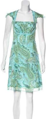Cynthia Steffe Cynthia Knee-Length Short Sleeve Dress Aqua Cynthia Knee-Length Short Sleeve Dress