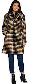 Isaac Mizrahi Live! Houndstooth Coat withRemovable Hood