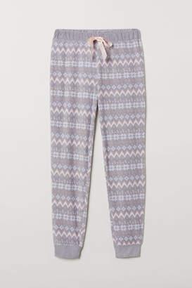 H&M Fleece Pajama Pants - Gray