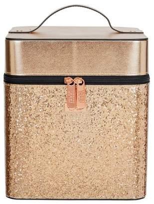 S.O.H.O New York Rose Gold Glitter Vanity Case