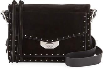 Rag & Bone Field Small Studded Suede Crossbody Messenger Bag