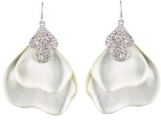 Alexis Bittar Crystal Encrusted Abstract Drop Earrings