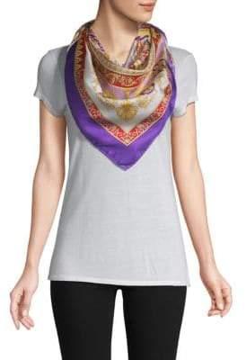 Versace Printed Square Silk Scarf