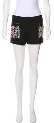 Thomas Wylde Prism Embellished Shorts