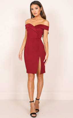 Showpo Someday Somewhere Dress in Wine - 10 (M) Sale Dresses
