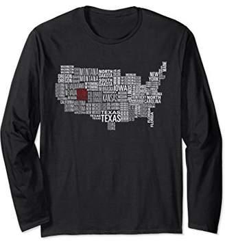 USA United States I State of Utah Long Sleeve Shirt