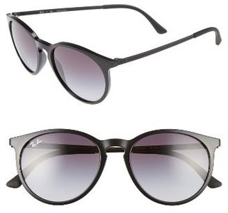 Women's Ray-Ban 53Mm Gradient Lens Retro Sunglasses - Black $155 thestylecure.com