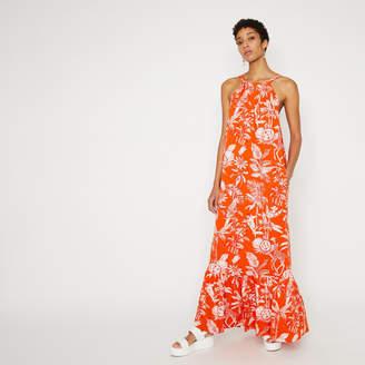 Warehouse Jungle Print Halter Maxi Dress