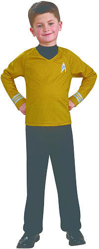 Star Trek Gold Captain Kirk Halloween Costume - Child Size Medium 8-10