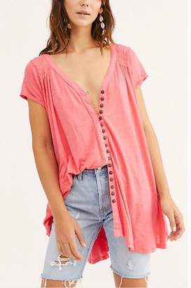 Free People Button-Up Flowy Tee