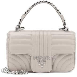 58a56c84fcb2 Prada Gray Leather Handbags - ShopStyle