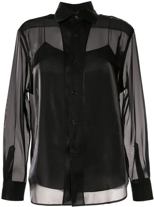 Ralph Lauren satin structured shirt
