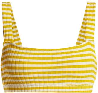 Solid & Striped The Madison striped ribbed bikini top
