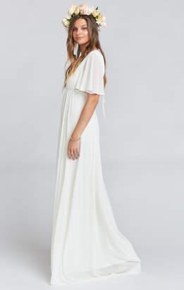 Show Me Your Mumu Faye Flutter Maxi Dress ~ Wedding Cake Chiffon