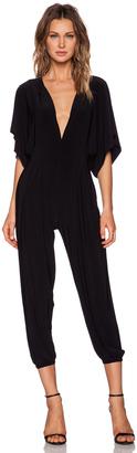 Norma Kamali KAMALIKULTURE Rectangle Jog Jumpsuit $145 thestylecure.com
