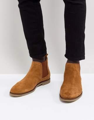 Dune Chelsea Boots In Tan Suede