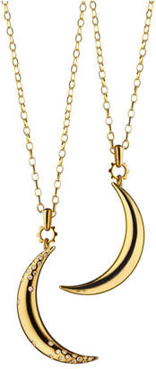 Monica Rich Kosann Dream Moon Charm Necklace with Diamonds, 32""