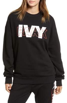 Ivy Park R) Layer Logo Graphic Sweatshirt