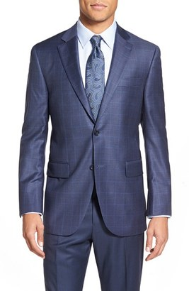 Men's Peter Millar 'Flynn' Classic Fit Check Wool Sport Coat $595 thestylecure.com