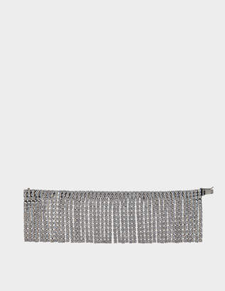 Marc Jacobs River Bracelet in Antique Silver Brass and Crystal