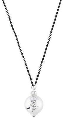 Monica Rich Kosann Colorless Sapphire & Ruby Ball Pendant Necklace