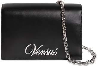 Versus Logo Leather Shoulder Bag