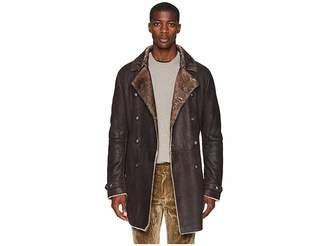 John Varvatos Collection Double Breasted Shearling Coat L617U3