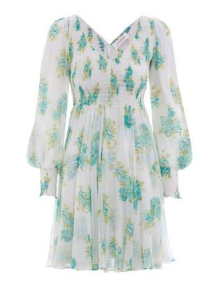 Zimmermann Whitewave Shirred Mini Dress