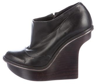 Stella McCartney Vegan Leather Wedge Booties