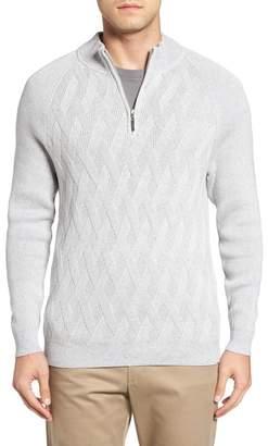 Tommy Bahama Ocean Crest Quarter Zip Sweater $138 thestylecure.com