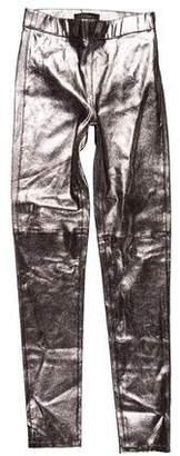 Intermix Metallic Leather Pants w/ Tags