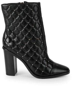 Ava & Aiden Quilted Leather Booties