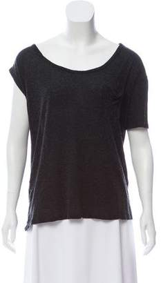 MM6 MAISON MARGIELA Asymmetrical Short Sleeve Top