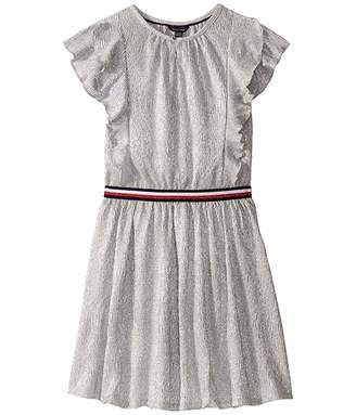 Tommy Hilfiger Metallic Ruffle Sleeveless Dress (Big Kids)