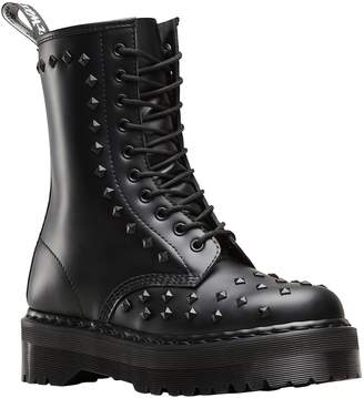 Dr. Martens Womens 1490 Stud 10-Eyelet Leather Boots 39 EU