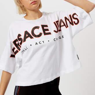 Versace Women's Oversized Logo T-Shirt
