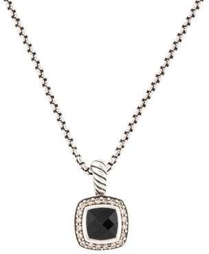 David Yurman Onyx & Diamond Petite Albion Pendant