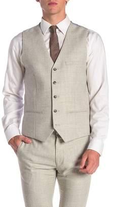 Topman Cross Hatch Waistcoat