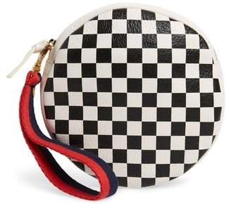 Clare Vivier Checkered Leather Circle Clutch
