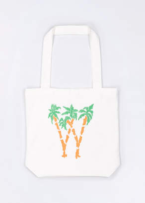 WildFang Cotton W Palms Applique Tote Palm Tote - MULTI - OS