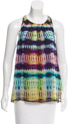 Trina Turk Printed Silk Top w/ Tags