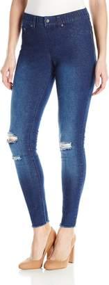 Hue Women's Ripped Knee Denim Leggings