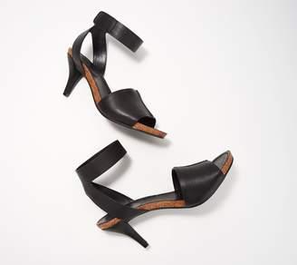 Vince Camuto Leahter Ankle Strap Heeled Sandals- Odela